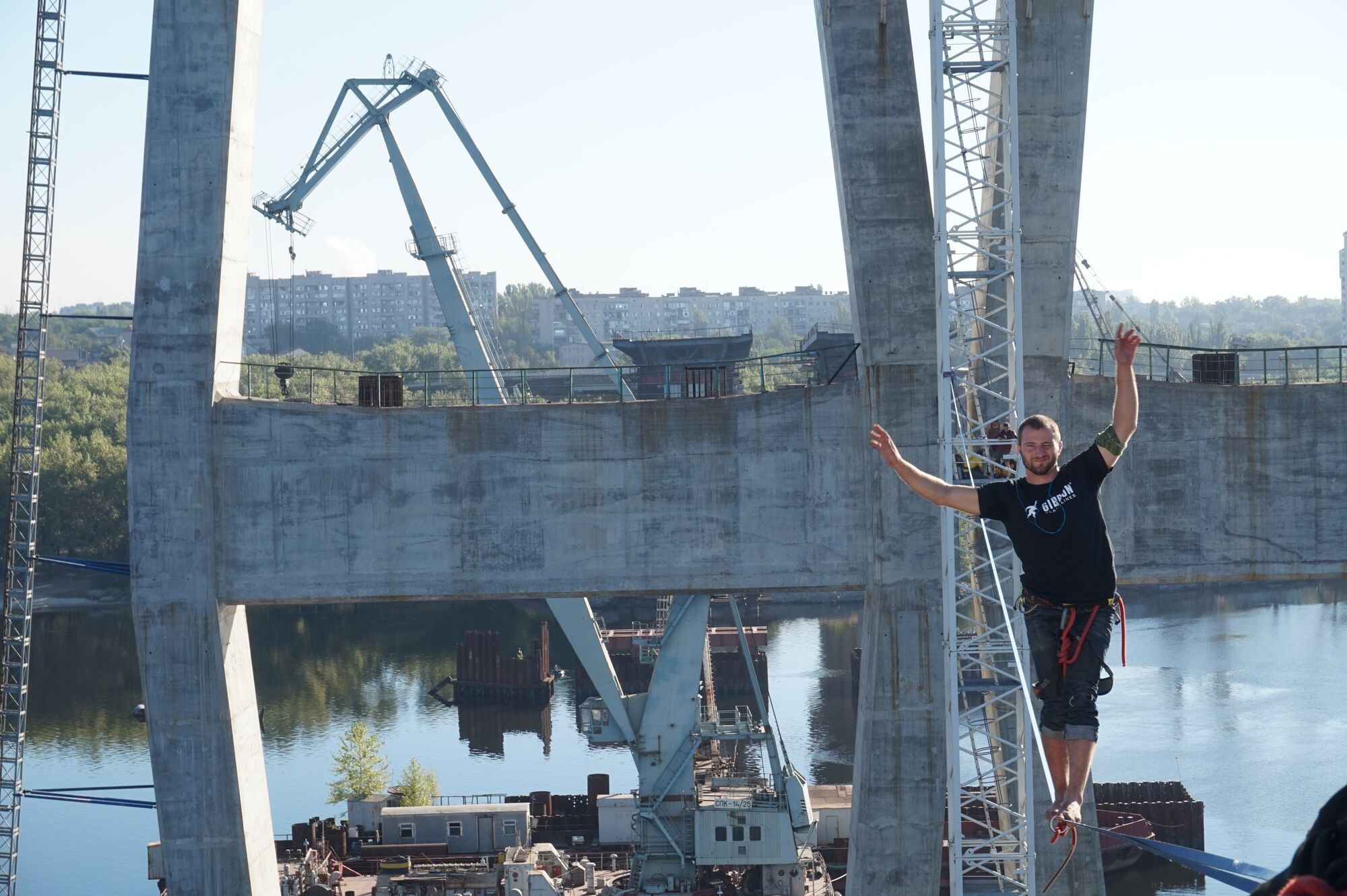 Недостроенный мост. Запорожье