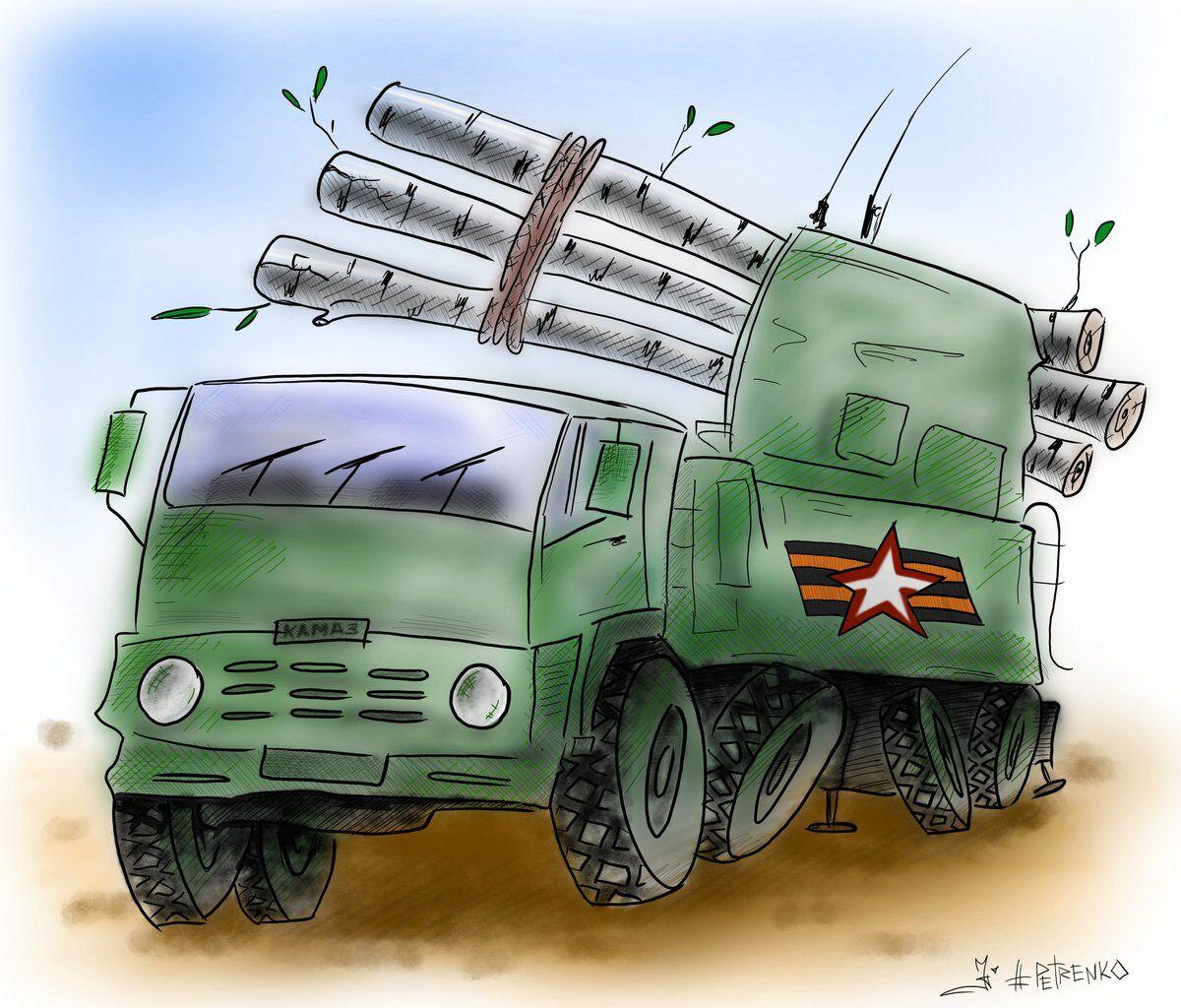 Мощь армии России высмеяли в едкой карикатуре