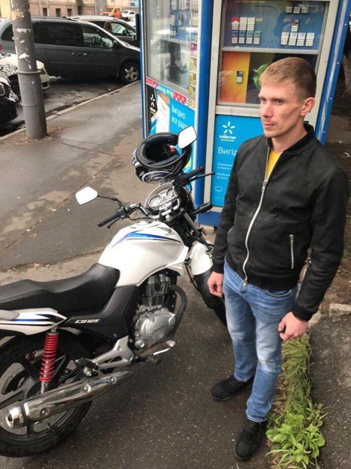 Мужчина, угнавший мотоцикл Маси Найема из-под здания Апелляционного суда, задержан в Киеве, - Нацполиция - Цензор.НЕТ 7073