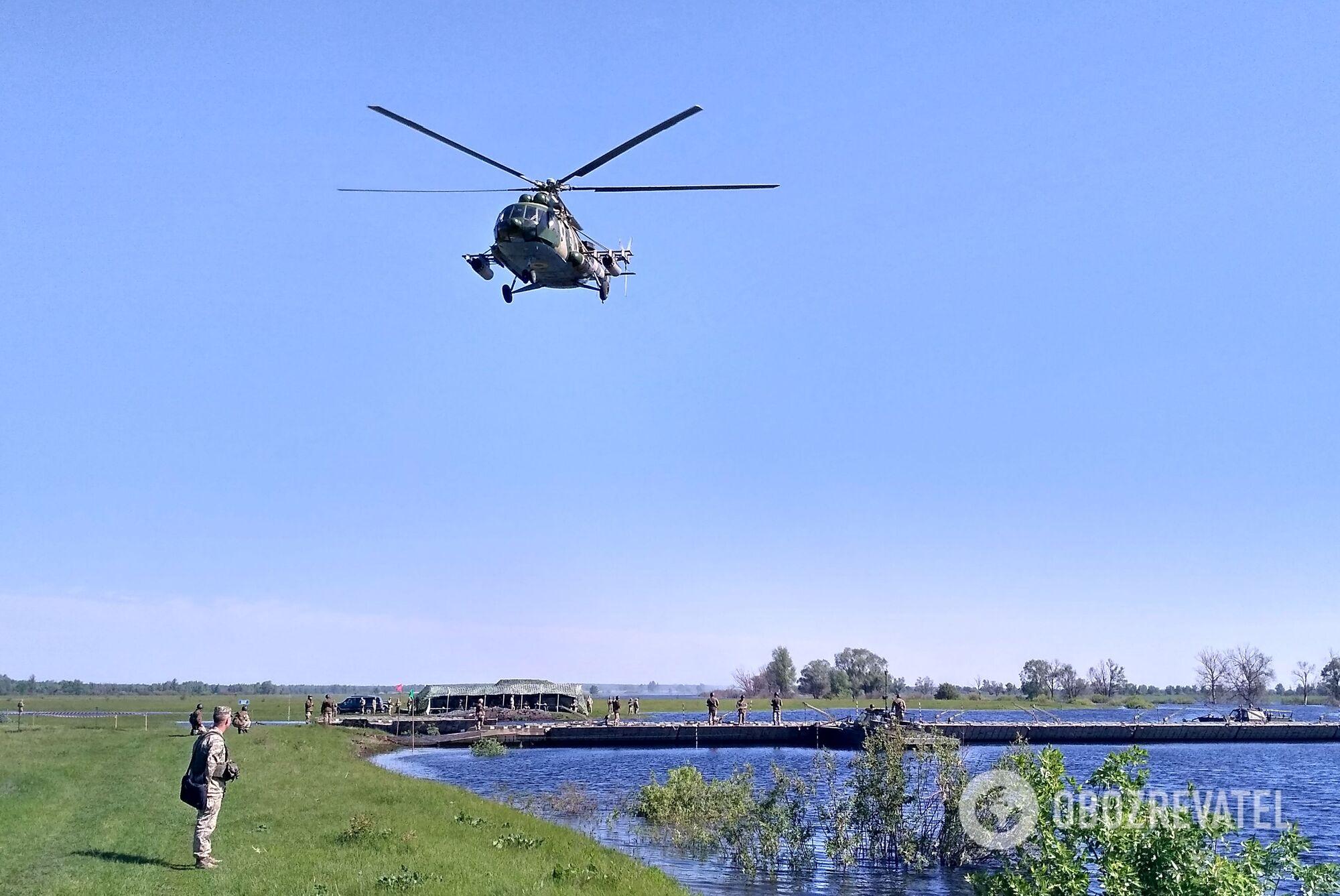 Кроме штатных подразделений бригады в учениях также были задействованы военнослужащие Центра инженерного обеспечения Главного управления оперативного обеспечения ВСУ, а также подразделение армейской авиации Сухопутных войск