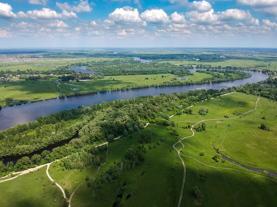 Зеленый остров в центре Киева: невероятные фото с высоты