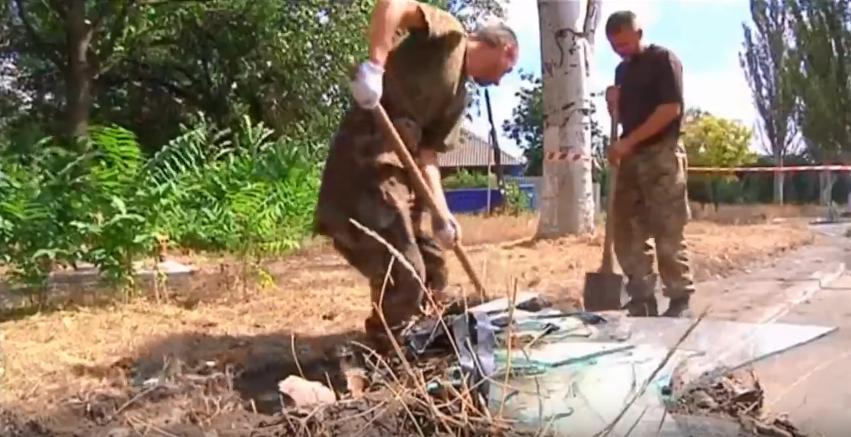 Принудительные работы для военнопленных украинцев в Донецке