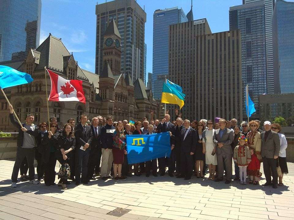 У Торонто підняли прапор кримських татар: з'явилося відео