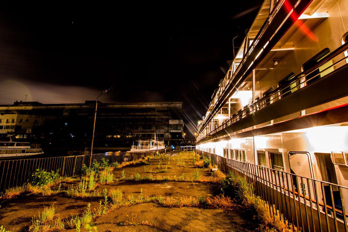 Річковий порт Дніпра вночі: неймовірні фото