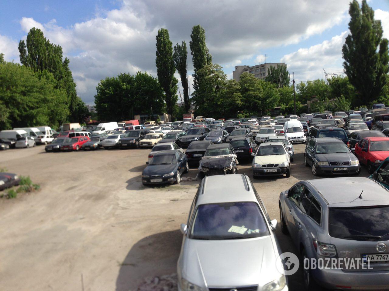 Штрафмайданчик у Києві