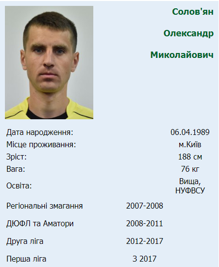 В Киеве арестовали футбольного арбитра