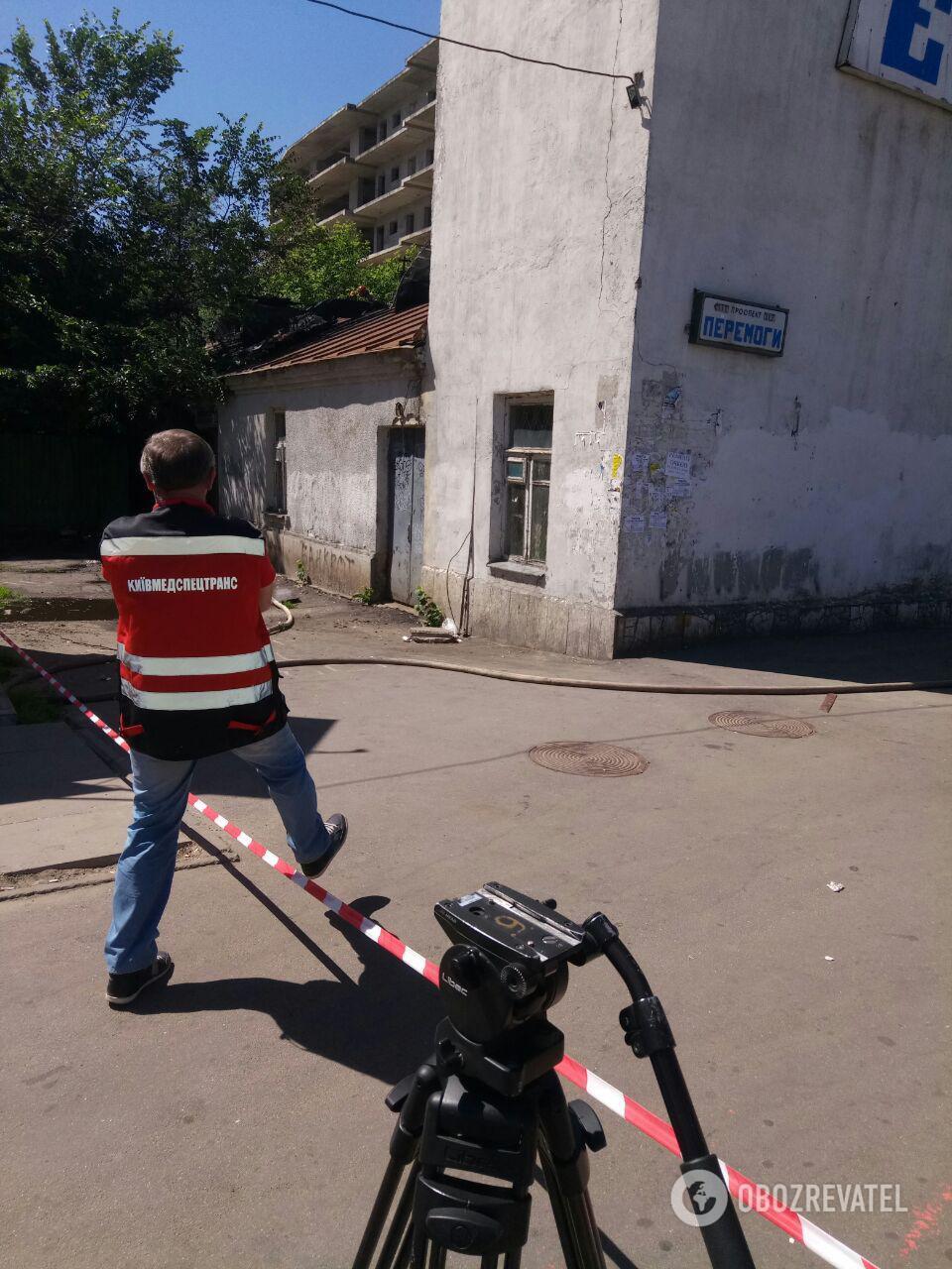 У Києві палав колишній кінотеатр