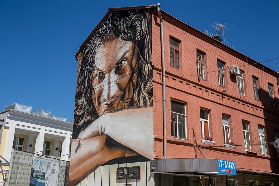 В Харькове появился невероятный мурал с Кузьмой Скрябиным: фото, видео