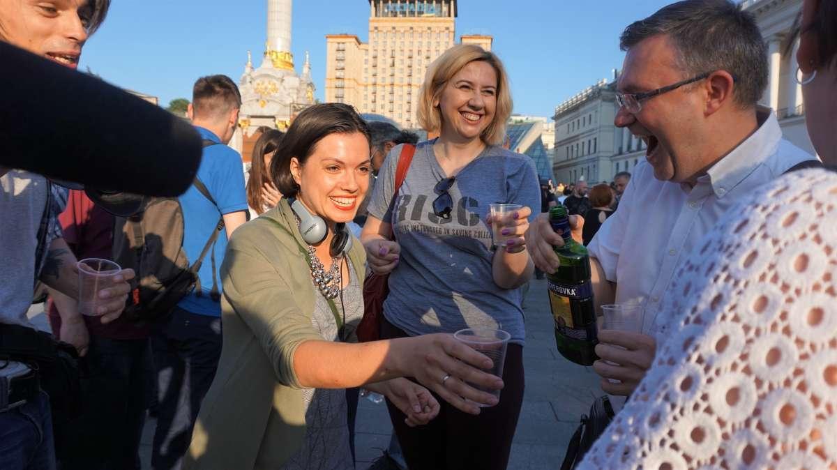 """На Майдані відсвяткували """"воскресіння"""" Бабченка"""