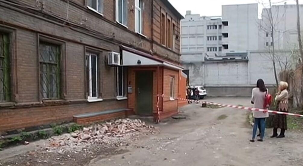 В центре Днепра обвалилась стена дома