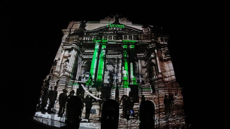Световое шоу во Львове: в сеть попали фото с репетиции