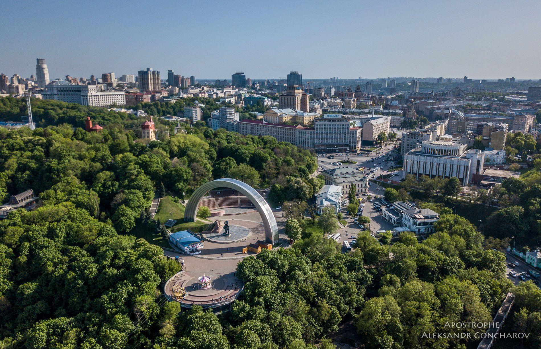 Фото Києва з висоти пташиного польоту