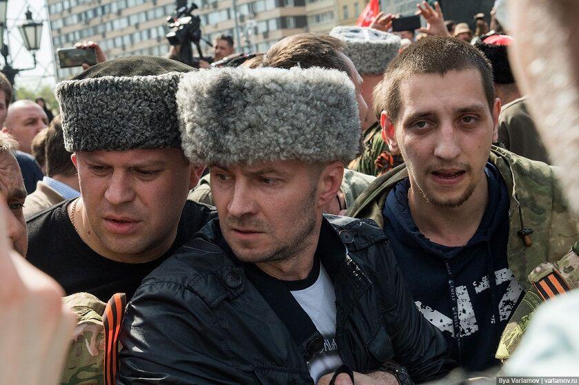 Козаки з Криму розганяли мітинг в Москві