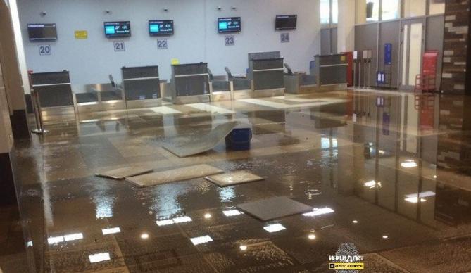 ВРоссии аэропорт залило фекалиями