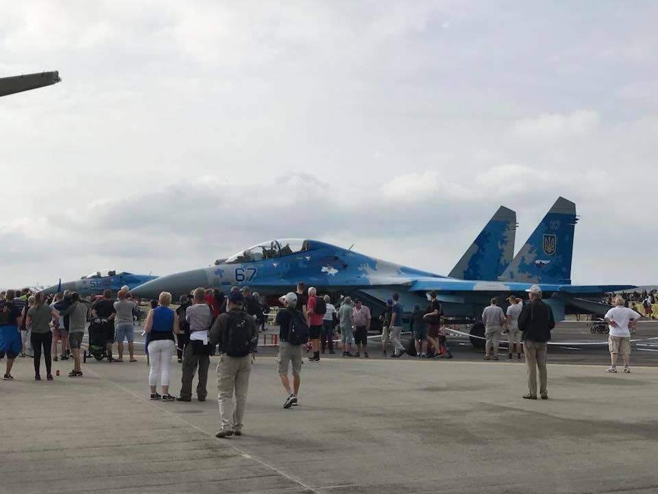 В Дании показали украинские истребители