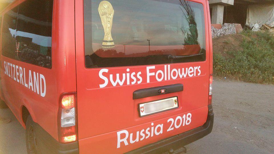Болельщики из Швейцарии в ООС