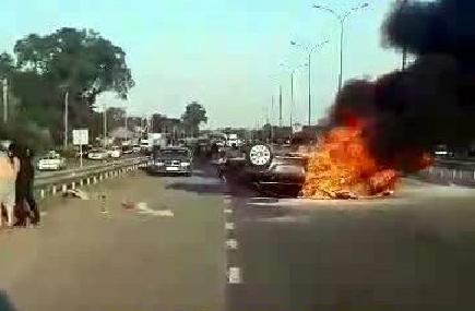 Сгорела заживо: фото масштабного ДТП на Полтавщине