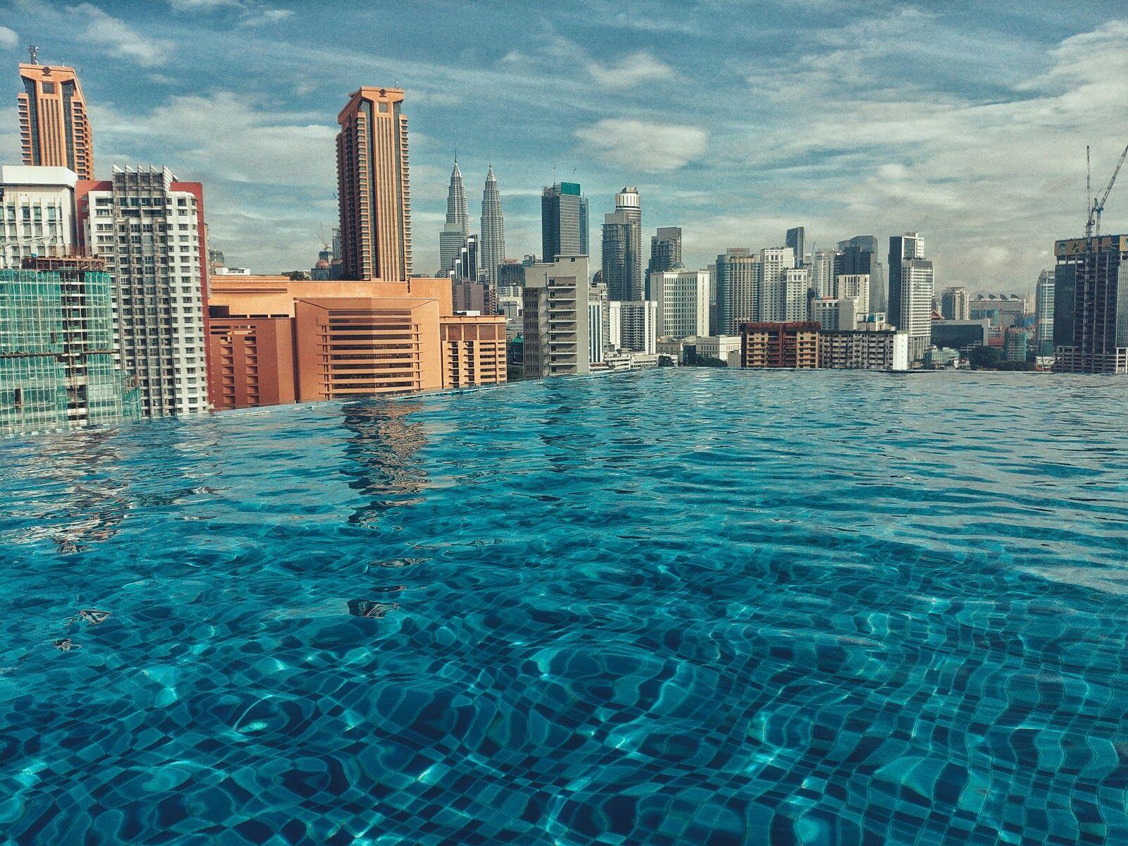 Вид из отеля в Куала-Лумпуре, Малайзия