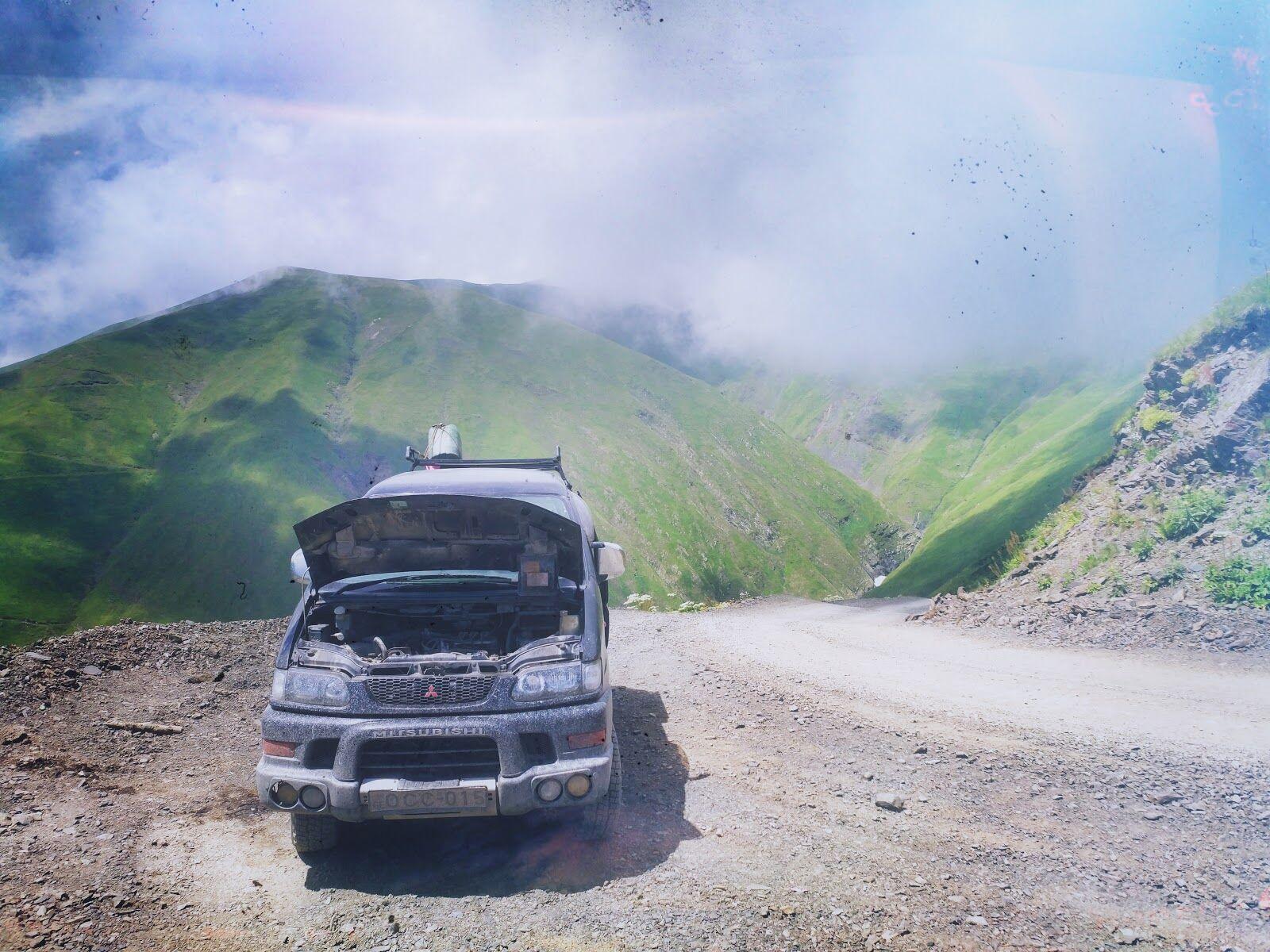 Перевал Абано в Грузии, 2 800м