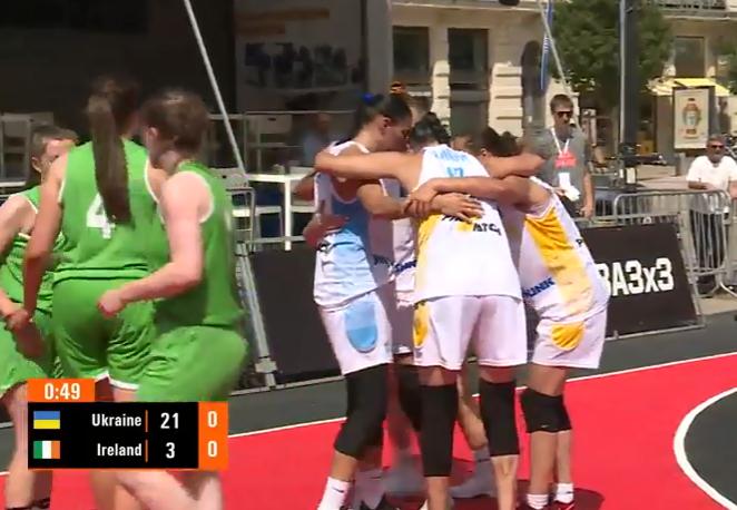 Украинки разгромили соперника на старте отбора к Евробаскету 3х3