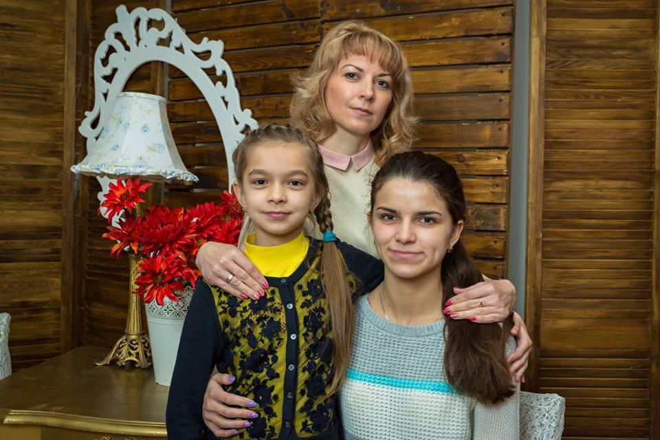 Татьяна Луцюк с дочками
