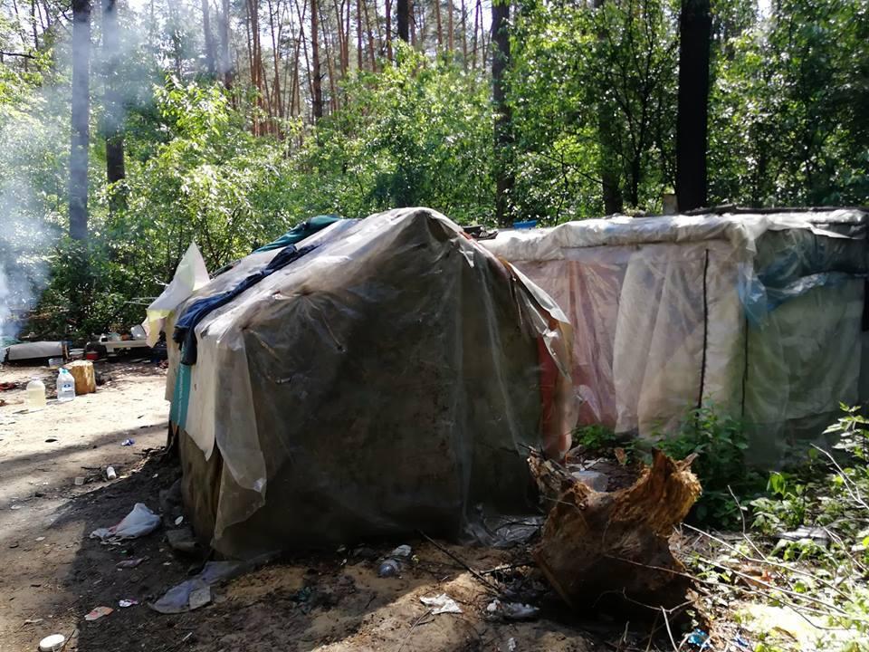 В Киеве табор ромов захватил национальный парк