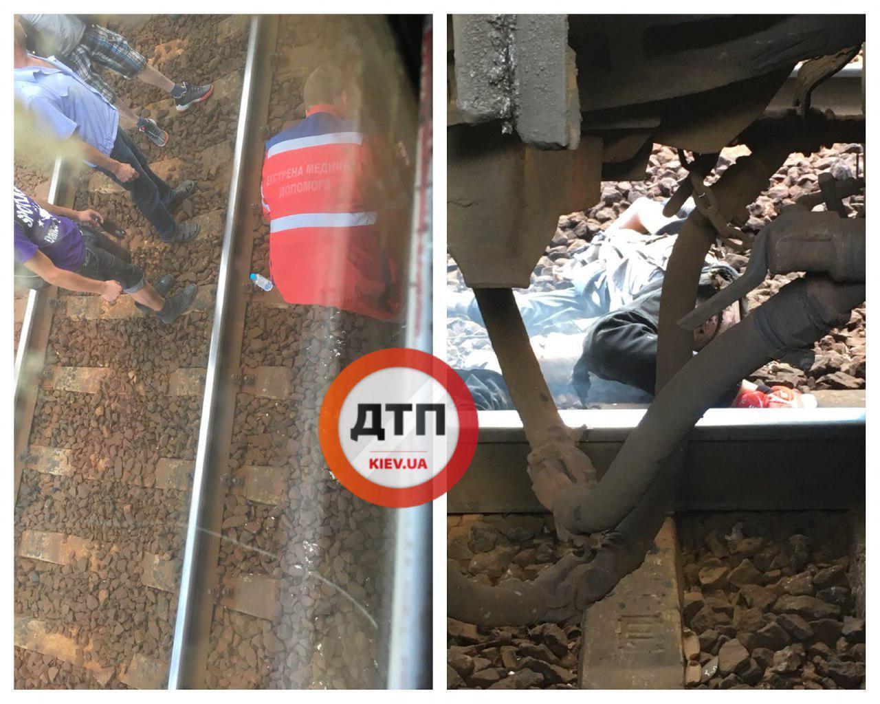 В Киеве парня ударило током на крыше поезда