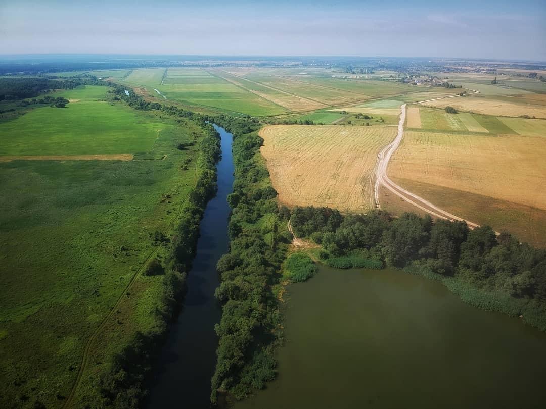 Удивительная Украина: урочище на Волыни с высоты птичьего полета