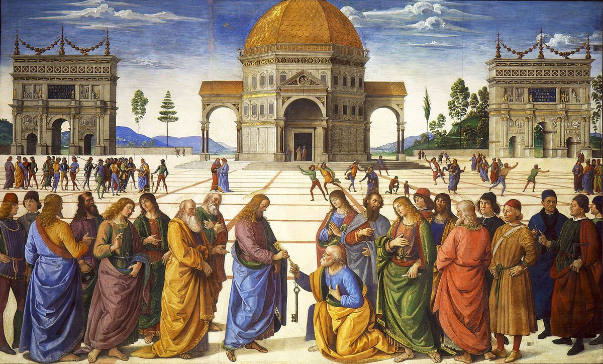Пьетро Перуджино, Вручение ключей апостолу Петру