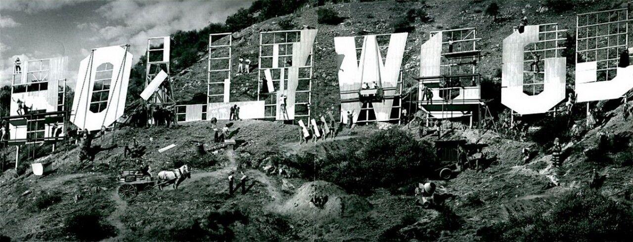 Зведення знака Голлівуду, 1923 рік