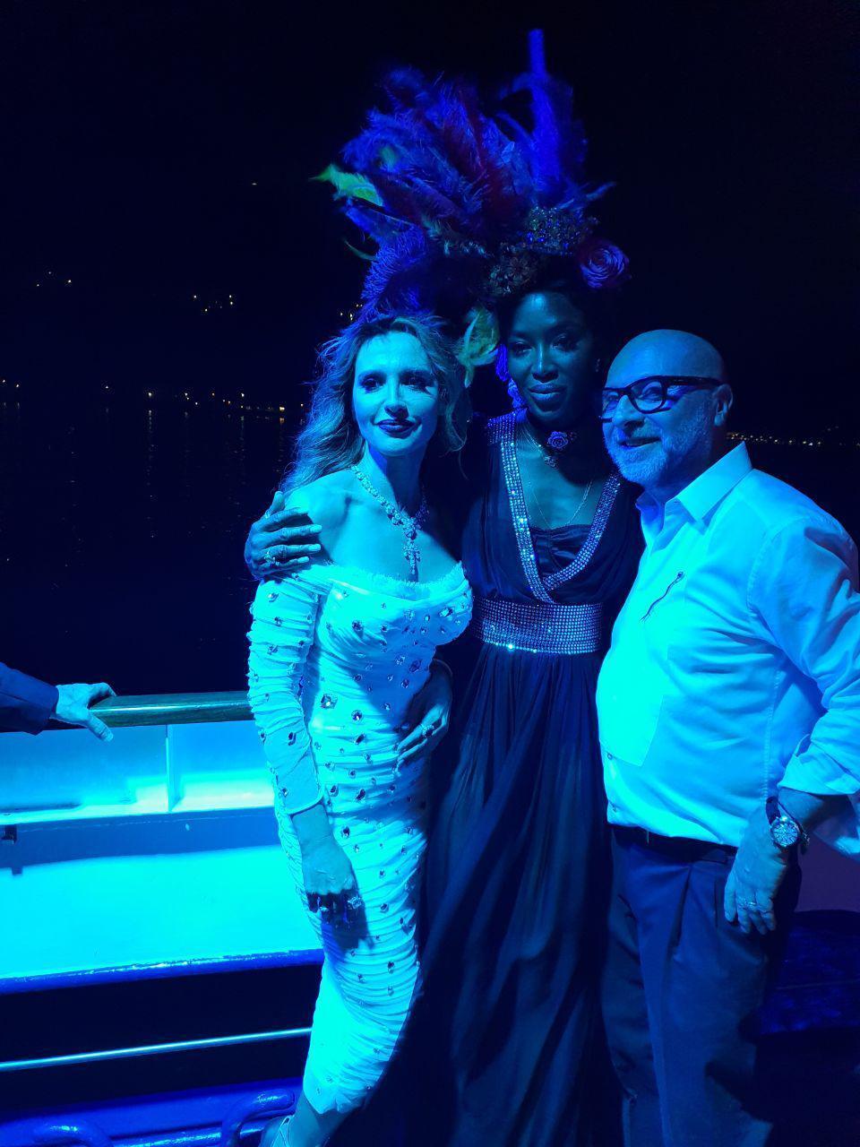 Оксана Марченко, Наоми Кемпбелл и Дольче Габбана на закрытой вечеринке в итальянском Комо