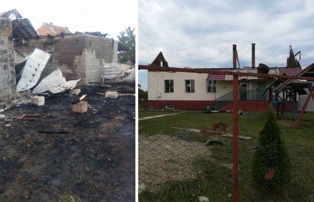 На Закарпатье сгорел детский сад: фото трагедии