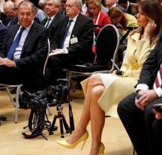 """""""Відмінні туфлі"""": Лаврова застукали на очах у Трампа і Путіна"""