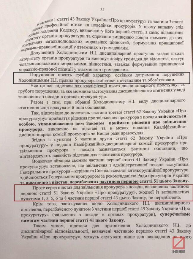 Скандал з Холодницьким: достроково спливло рішення