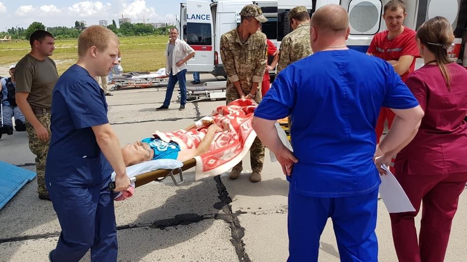 Раненые бойцы прибыли в Одессу