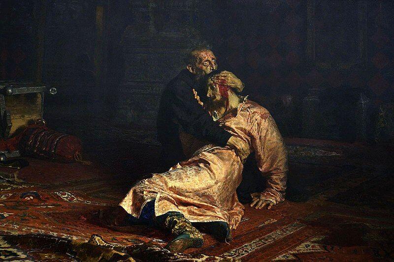 """Илья Репин. """"Иван Грозный и сын его Иван 16 ноября 1581 года"""""""