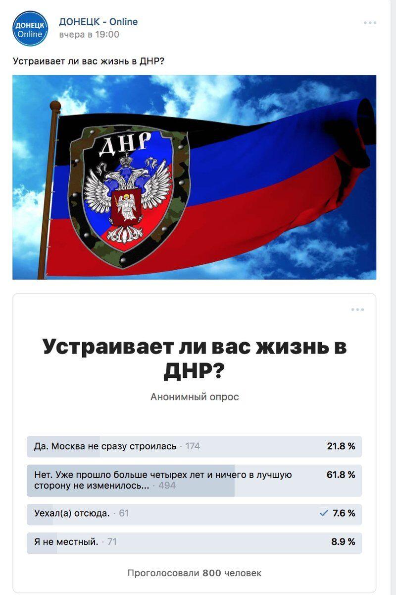 """Жителі """"ДНР"""" поскаржилися на """"русскій мір"""""""