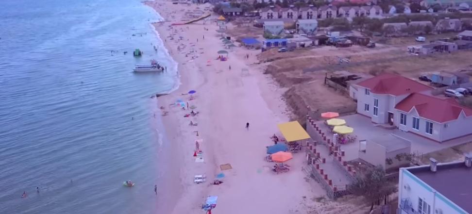 Полет над курортной косой на Азовском море: опубликовано невероятное видео