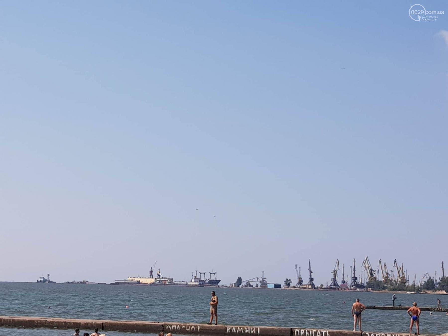 Над Мариуполем пронеслись военные самолеты