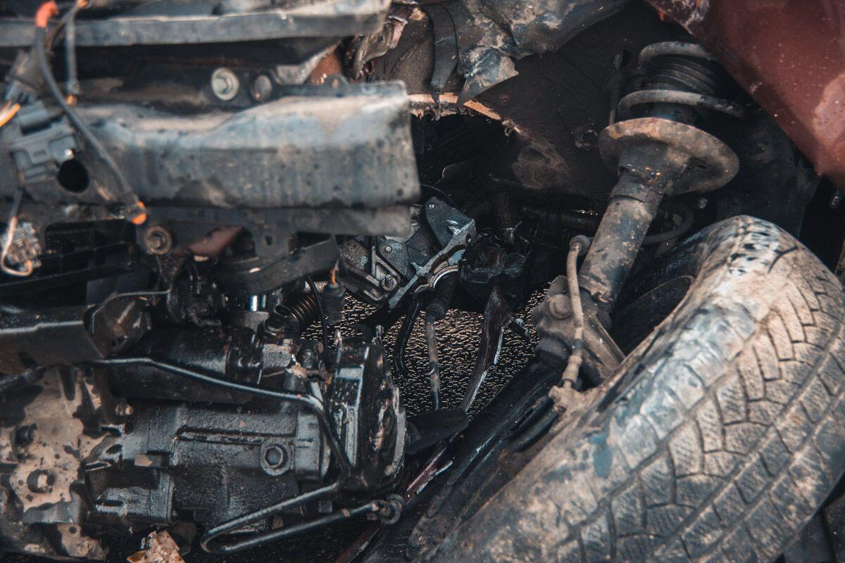 В Киеве евроавто попало в нелепое ДТП