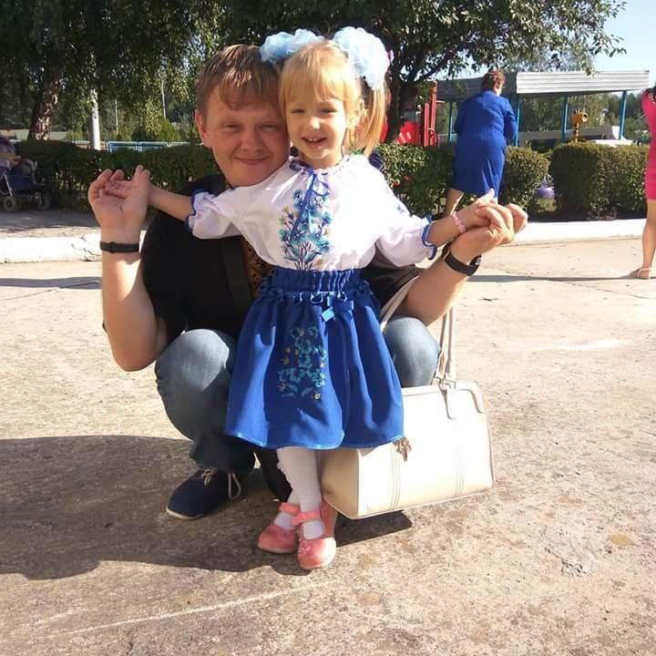 Юрий с младшей дочкой Катей