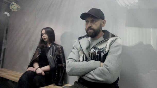 Зайцева і Дронов у залі суду