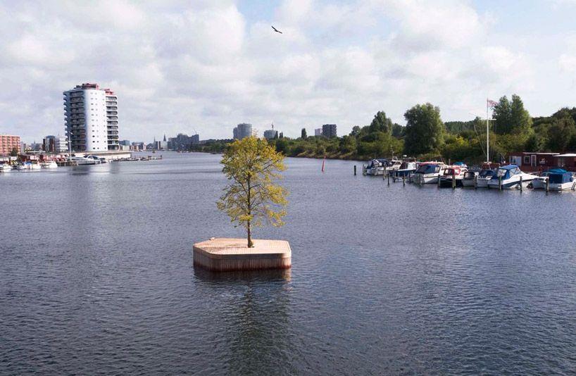 Деревянная платформа в Копенгагене