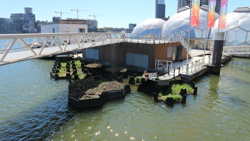 Острова из мусора в Роттердаме