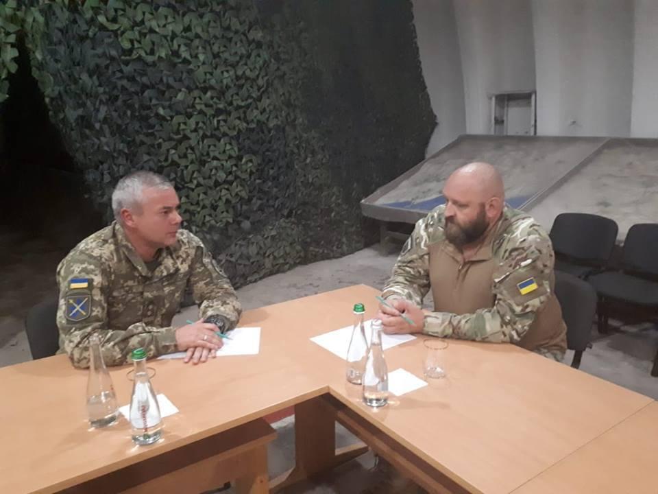 Командувач ООС Сергій Наєв зустрівся з командиром ДУК-ПС Андрієм Стемпіцьким