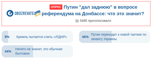 """""""Референдум"""" на Донбасі: українці побоюються пропозиції Путіна"""