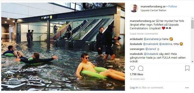 Шведы показали украинцам, как развлекаться в ливень