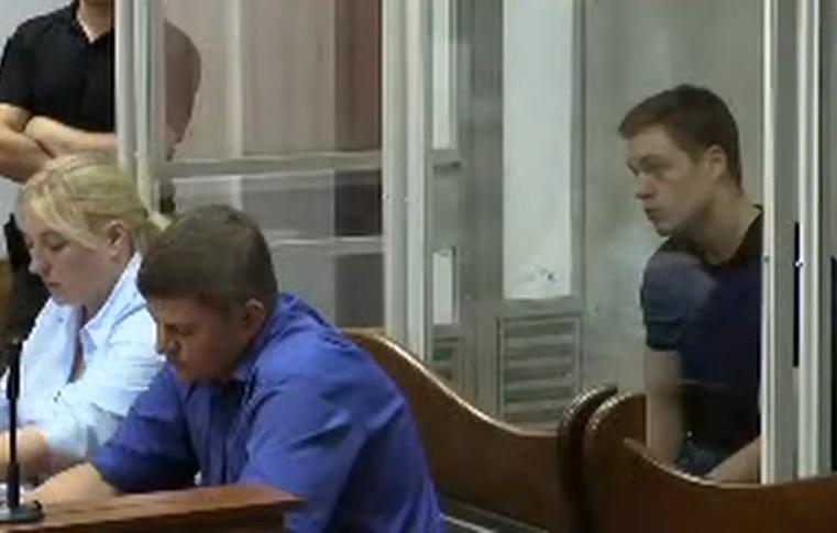 Кирило Островський під час судового засідання