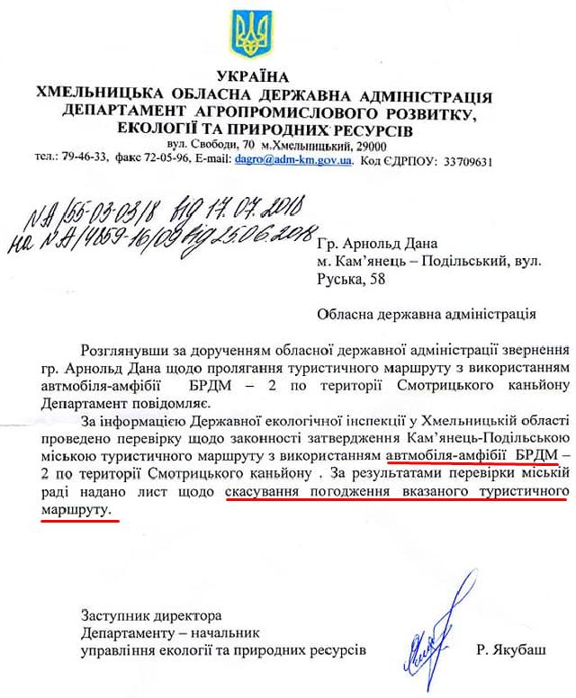 Департамент агропромислового розвитку, екології та природних ресурсів Хмельницької обласної державної адміністрації