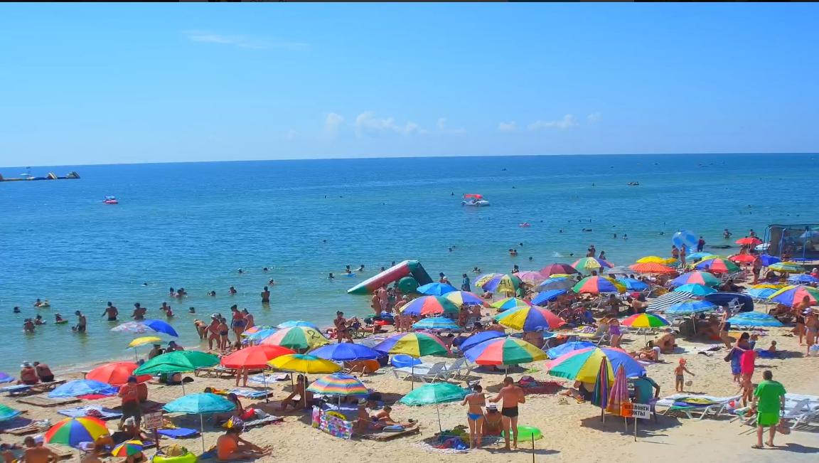 Пляж в Кирилівці